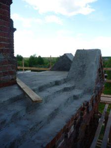 Реставрация фасада колокольни летом 2017 г.